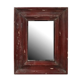 Privilege Vintage Red Reclaimed Wood Wall Mirror