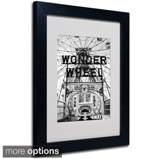 Yale Gurney 'Coney Island Wonder Wheel' Framed Matted Art