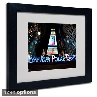 Yale Gurney 'NYPD In Blue Neon' Framed Matted Art