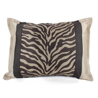 Sherry Kline True Safari Zebra Brown Boudoir Pillow