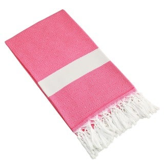 Authentic Pestemal Fouta Diamond Weave Turkish Cotton Beach Towel