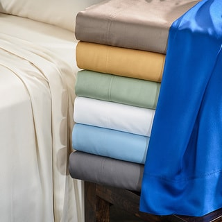 Superior Oversized 300 Thread Count Split King Rayon from Bamboo Bed Sheet Set