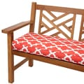 Scalloped Coral 60-inch Indoor/ Outdoor Corded Bench Cushion