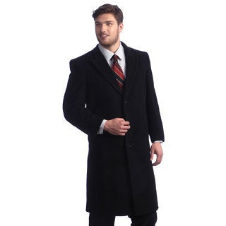 Cashmere Blend Men's Howard Charcoal Overcoat