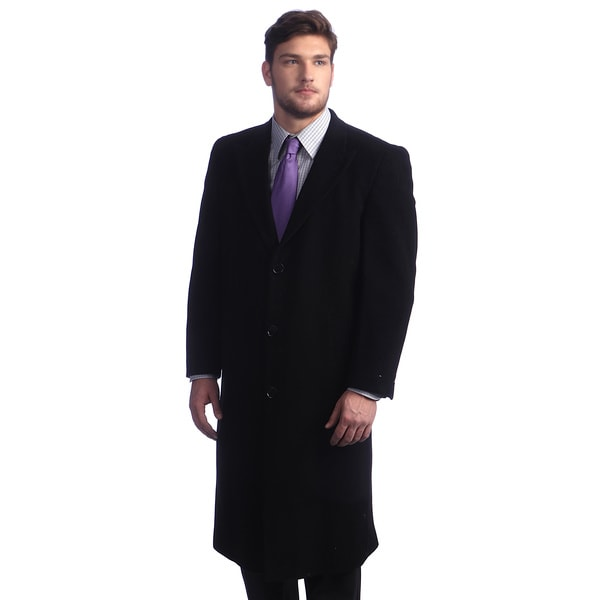 Men's 'Howard' Black Overcoat 42S (As Is Item)