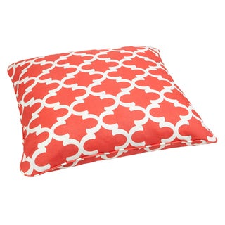 Scalloped Coral Corded Outdoor/ Indoor Large 28-inch Floor Pillow