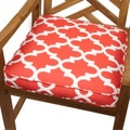 Scalloped Coral 20-inch Indoor/ Outdoor Corded Chair Cushion