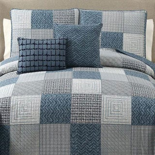 Grayson 5-Piece Reversible 100% Cotton Quilt Set