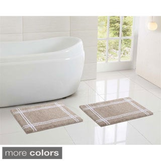 Clark Hotel Microfiber Memory Foam 17 x 24 Bath Mat (Set of 2)