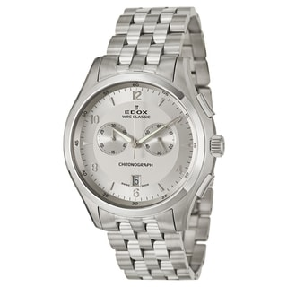 Edox Men's Stainless Steel Chronograph Watch