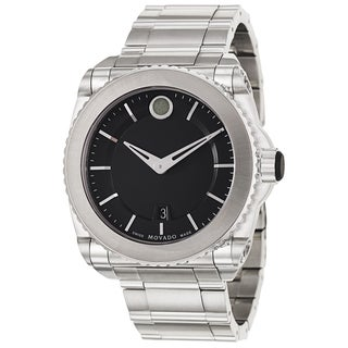 Movado Men's 'Master' Stainless Steel Swiss Quartz Watch