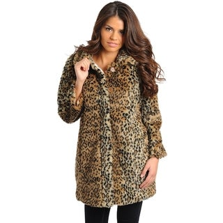 Club LA Women's Leopard Coat