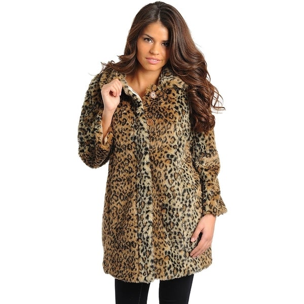 Club LA Women's Leopard Coat