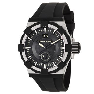 Concord Men's Stainless Steel Rubber Chronometer Watch