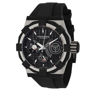 Concord Men's Titanium Rubber Retrograde Watch