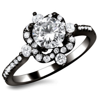 18k Black Gold 1ct TDW Certified Diamond Ring (G-H, SI1-SI2)