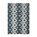 Alliyah Handmade Ikat Orion Blue New Zealand Blend Wool Rug (9' x 12')