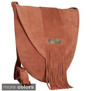 Alla Leather Art Jilabun Fringe Handsfree Cross-body