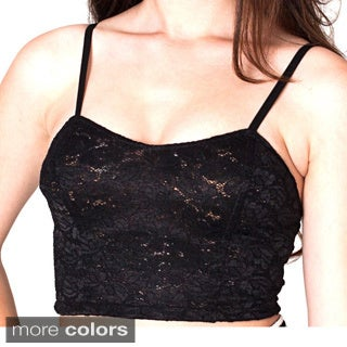 American Apparel Women's Lace Ribbon Bustier