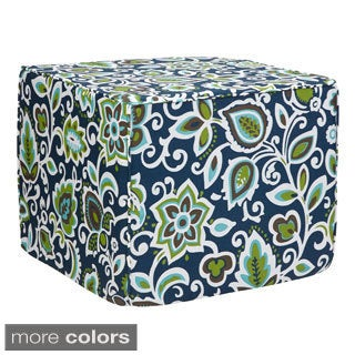 Brooklyn 22-inch Floral Indoor/ Outdoor Ottoman