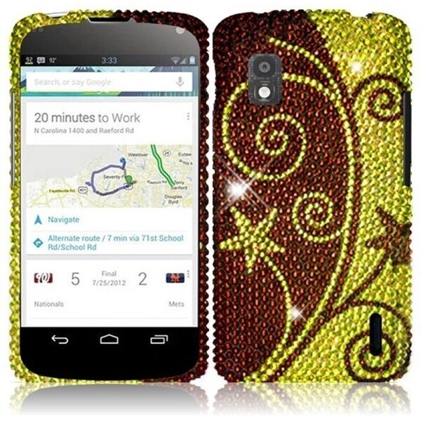 BasAcc Elegant Swirl Diamond Case for LG Nexus 4 E960T