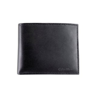Calvin Klein Men's Black Bifold Leather Wallet