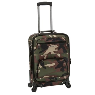 Rockland Deluxe Camouflage 20-inch Expandable Carry-On Spinner Upright Suitcase