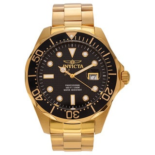 Invicta Men's Black Gold Pro Diver Watch
