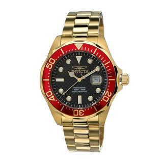 Invicta Men's Red Gold-Tone Pro Diver Watch