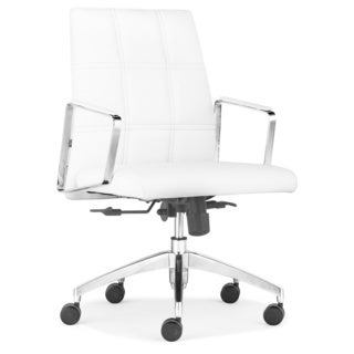 Controller Low Back White Office Chair