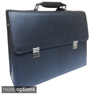 Jourdan Flap Over Leather Briefcase