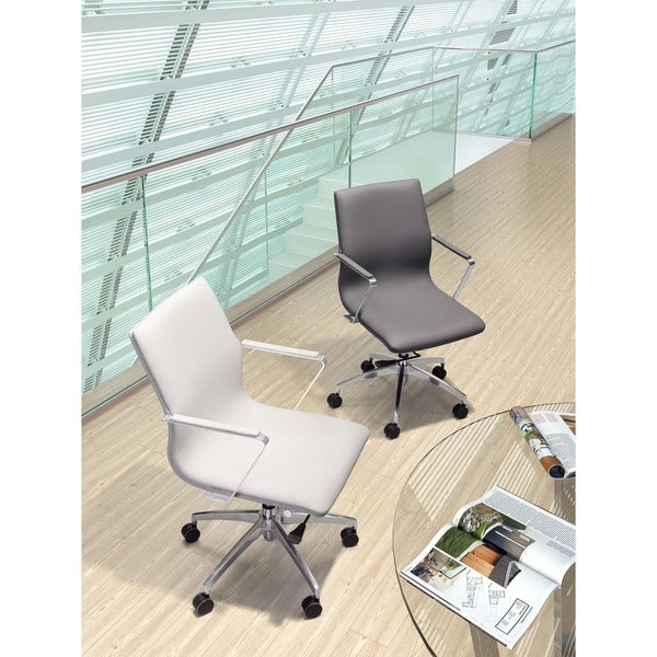 Herald Low Back White Office Chair