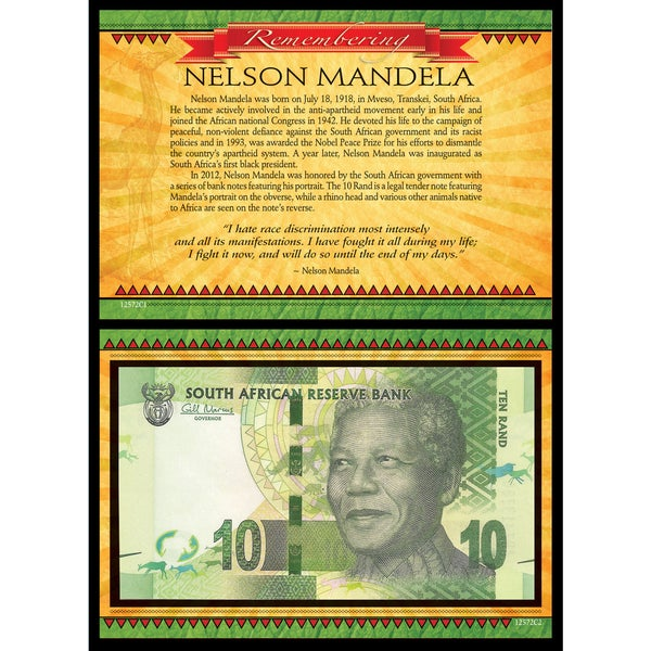 Remembering Nelson Mandela Collectible South African Note