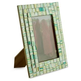 Handmade Glass Mosaic 'Summer Memories' Photo Frame , Handmade in India