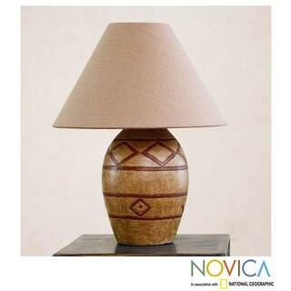 Handcrafted Ceramic 'Sierra Light' Lamp (Mexico)