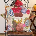 Set of 2 Cotton 'Indian Dahlia' Cushion Covers (India)
