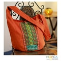 Handcrafted Cotton 'Assam Splendor' Large Shoulder Bag (India)