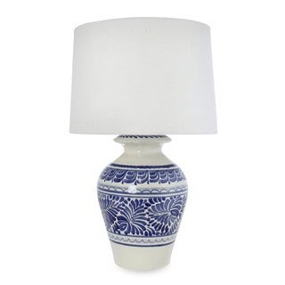 Handcrafted Ceramic 'Song of Talavera' Majolica Table Lamp (Mexico)