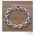 Sterling Silver 'Brave Lady' Bracelet (Indonesia)