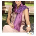 Handcrafted Silk 'Violet Duality' Scarf (Thailand)