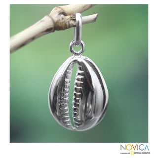 Handcrafted Sterling Silver 'Abundant Cowrie' Pendant (Ghana)