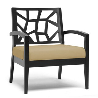 Baxton Studio Baxton Studio Jennifer Black and Cream Modern Lounge Chair