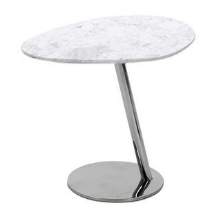 Baxton Studio Herrera White Marble Modern End Table