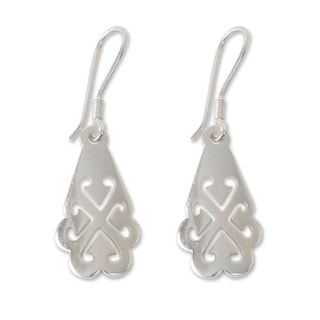 Handcrafted Sterling Silver 'Tree of God' Earrings (Ghana)