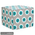 Brooklyn 22-inch Ikat Dots Indoor/ Outdoor Ottoman