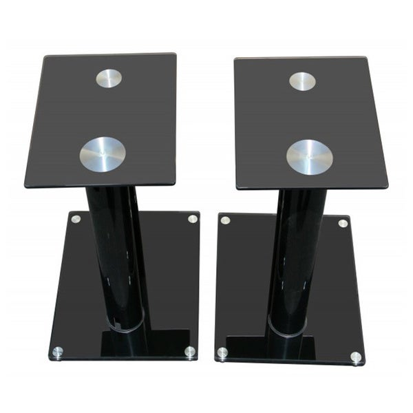 Mount-It! Premium Aluminum and Glass Speaker Stands
