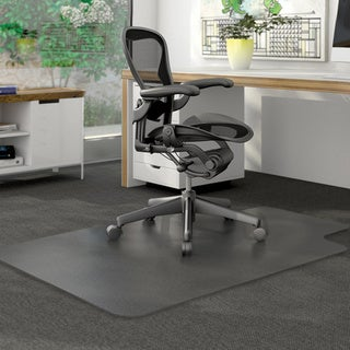 "Deflect-O DuraMat Low Pile Studded Clear Chair Mat (36"" x 48"")"