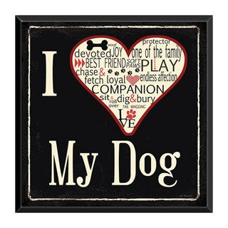'I Love My Dog' Ready-to-Hang Pet Plaque