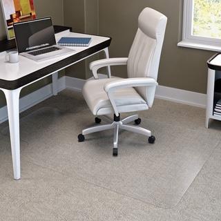 "Deflect-O SuperMat Medium Pile Studded Clear Chair Mat (45"" x 53"")"