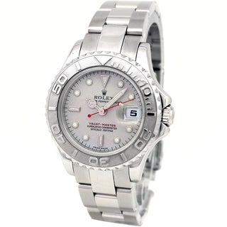 Pre-Owned Rolex Women's Stainless Steel & Platinum Yachtmaster Watch